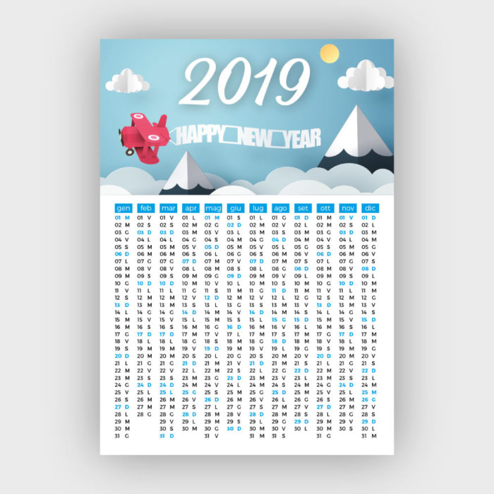 Calendario 2019 Con Le Festivita.Smart Calendar Come Creare Un Calendario Con Indesign Con