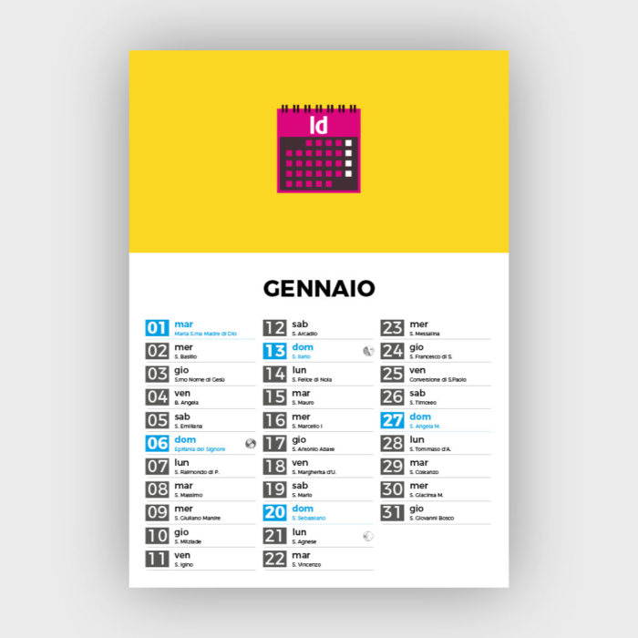 Calendario 2020 Con Santi Da Stampare.Smart Calendar Come Creare Un Calendario Con Indesign Con