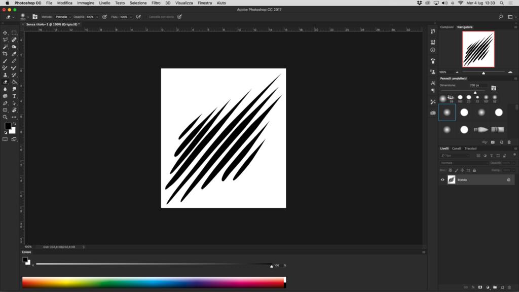 Creare pennello in photoshop